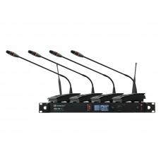 Bevielių konferencinių mikrofonų komplektas RELACART Set 1x WAM-400 and 4x UD-200 System