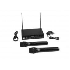 Bevielių mikrofonų komplektas OMNITRONIC VHF-102 Wireless Mic System 209.80/205.75MHz