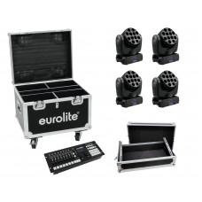 EUROLITE Set 4x LED TMH-12 + Controller + Cases