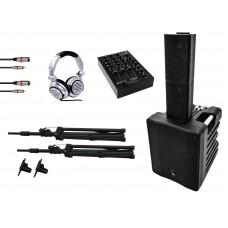 DJ komplektas renginiams OMNITRONIC Set ACS-510 + PM-311P + SHP-2000 MK2 + Basecap