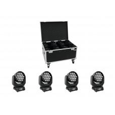 Judančių galvų komplektas EUROLITE Set 4vntLED TMH-X5 + transportavimo dėžė