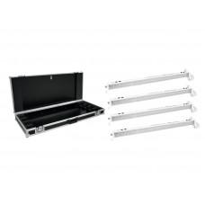 EUROLITE Set 4x LED BAR-252 RGB 10mm 20� white + Case