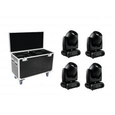 FUTURELIGHT Set 4x DMH-160 LED Moving-Head + Case