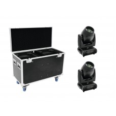 FUTURELIGHT Set 2x DMB-160 LED Moving-Head + Case