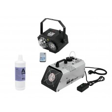 EUROLITE Set LED Mini FE-4 + NH-10 + Smoke Fluid -A2D- 1l