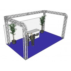 ALUTRUSS Truss set QUADLOCK 6082R U-Figure 7x4x3.5m (WxDxH)