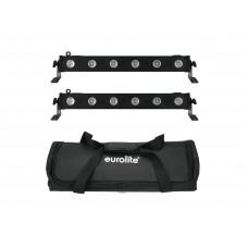 EUROLITE Set 2x LED BAR-6 QCL RGBW + Soft Bag