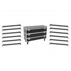 EUROLITE Set 12x LED BAR-12 QCL RGBW Bar + Case L