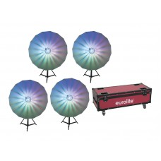 EUROLITE Set 4x LED Umbrella 140 + Case