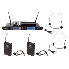 OMNITRONIC Set UHF-502 2-Channel Wireless Mic System+2xBodypack+