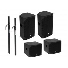 Aktyvių garso kolonėlių komplektas OMNITRONIC PA Set AZX S active