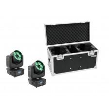 EUROLITE Set 2x LED TMH-16 Moving-Head Zoom Wash + Case