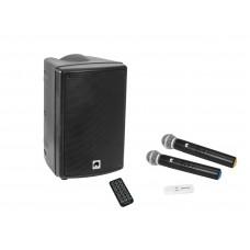 OMNITRONIC Set WMAS-08BT MK2 nešiojama garso kolonėlė + UWM-2HH USB bevielių mikrofonų komplektas