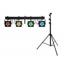 EUROLITE Set LED KLS-902 + STV-60-WOT EU Steel stand black