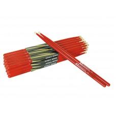 Būgnų lazdelės DIMAVERY DDS-5A Drumsticks, maple, red