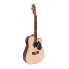 12 stygų gitara DIMAVERY DR-612 Western guitar 12-string, nature