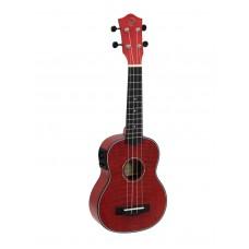 DIMAVERY UK-100 Soprano ukulele, flamed red