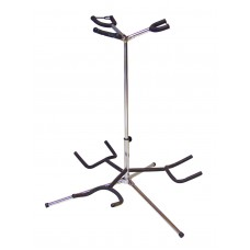 DIMAVERY Guitar stand 3-fold sil