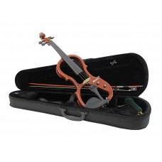 DIMAVERY E-Violin 4/4 with bow, nature