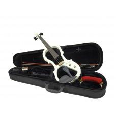 DIMAVERY E-Violin 4/4 with bow, white