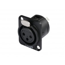 HICON XLR mounting plug 3pin HI-X3DF-M