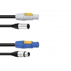 PSSO Combi Cable DMX PowerCon/XLR 1,5m