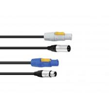 PSSO Combi cable PowerCon/XLR 5m