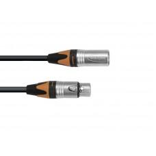 PSSO DMX cable XLR COL 3pin 3m bk Neutrik