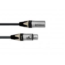 PSSO DMX cable XLR COL 3pin 15m bk Neutrik