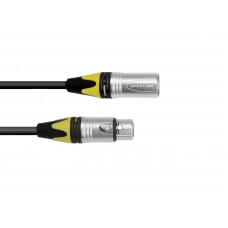 PSSO DMX cable XLR COL 3pin 20m bk Neutrik