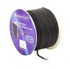 Garsiakalbių kabelis OMNITRONIC  2x2.5 50m juodas, tvirtas
