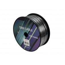 EUROLITE DMX kabelis 2x0.22 100m juodas