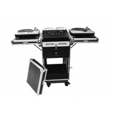 DJ stalas transportuojamas ROADINGER Special combo case TA-1, 18U su ratukais