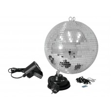 Veidrodinis gaublys EUROLITE Mirror ball set 30cm with LED spot