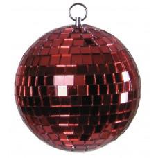 Veidrodinis gaublys raudonas EUROLITE Mirror ball 10cm red