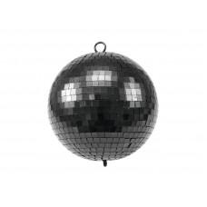 Juodas veidrodinis burbulas EUROLITE Mirror Ball 20cm black matt