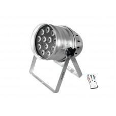 LED PAR64 prožektorius EUROLITE LED PAR-64 QCL 12x8W floor sil