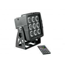 Architektūrinis prožektorius EUROLITE LED IP PAD 9x8W HCL