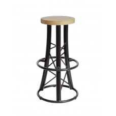 ALUTRUSS Bar stool, curved black