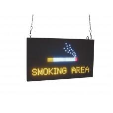LED ženklas  SMOKING AREA