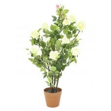 Dirbtinė rožė EUROPALMS krūmas, kreminė, 86cm