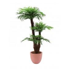 Dirbtinė areka palmė su palmių pluošto kamienu EUROPALMS, 120cm