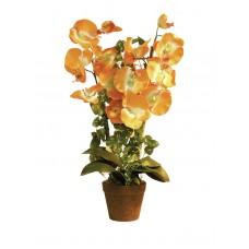 Oranžinė orchidėja dirbtinė EUROPALMS 57cm