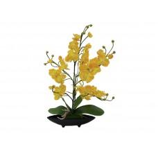 Dirbtinių orchidėjų kompozicija vazone EUROPALMS, geltona