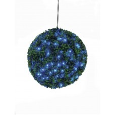 Dirbtinis  Boxwood kamuolys su mėlynu LED pašvietimu, 40cm