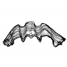 EUROPALMS Deco fabric, broad, black, 76x500cm