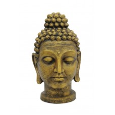 Budos galva EUROPALMS Head of Buddha, antique-gold, 75cm