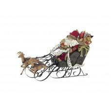 EUROPALMS Christmas sleigh, with reindeer, 75cm