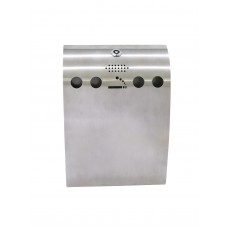 EUROPALMS Ashtray WAVE, stainless steel