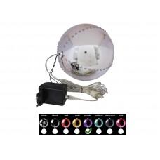 EUROPALMS LED Snowball 15cm, purple